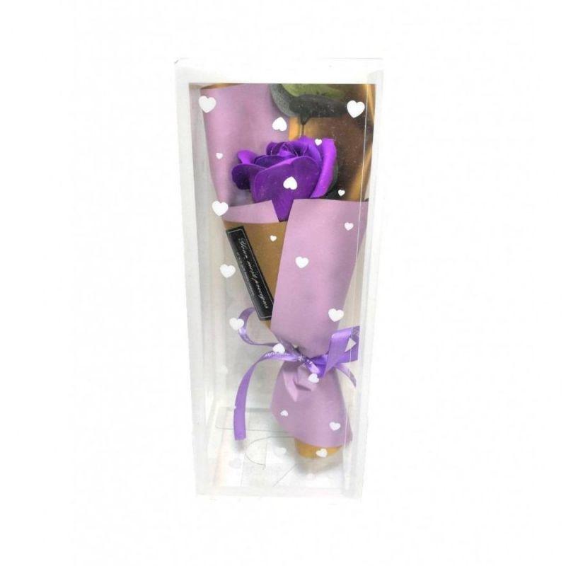 Мыльная роза 25 см (цвет фиолетовый)