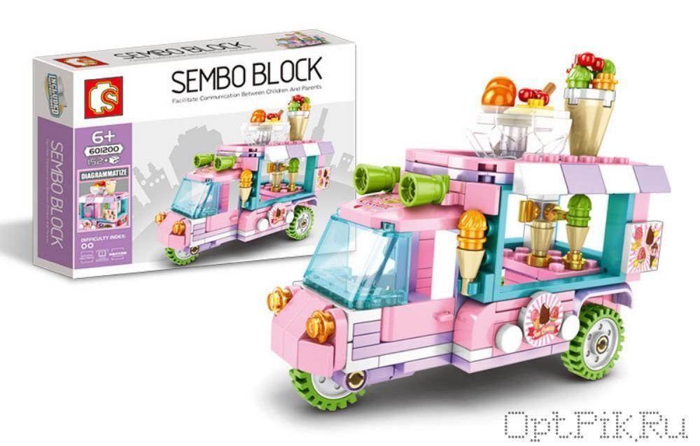 "Передвижное кафе ""Мопед с мороженным"" Sembo Block"