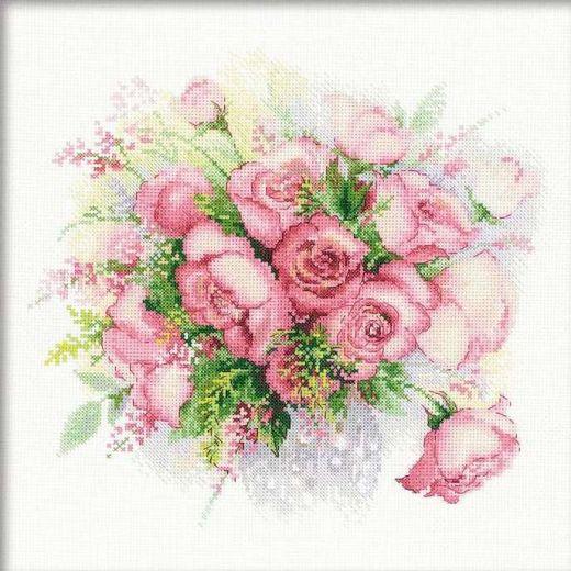 Набор для вышивания крестом Акварельные розы №1335 фирма Риолис