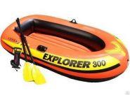 Надувная лодка EXPLORER-300-Set, трехместная INTEX58332