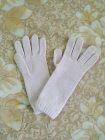 Кашемировые вязаные перчатки для Леди удлиненные с короткой манжетой (100% драгоценный кашемир), цвет Румяный BLUSH PINK SHORT CUFF WOMENS CASHMERE GLOVES
