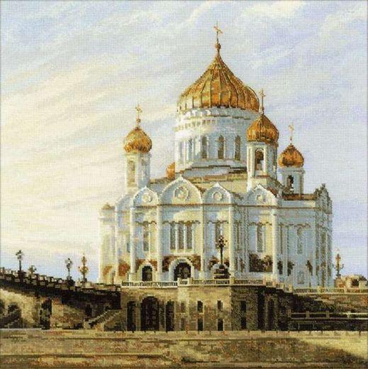 Набор для вышивания крестом Москва. Храм Христа Спасителя № 1371 фирма Риолис