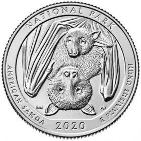 Национальный парк Американского(Западное) Самоа 25 центов США 2020 Двор S