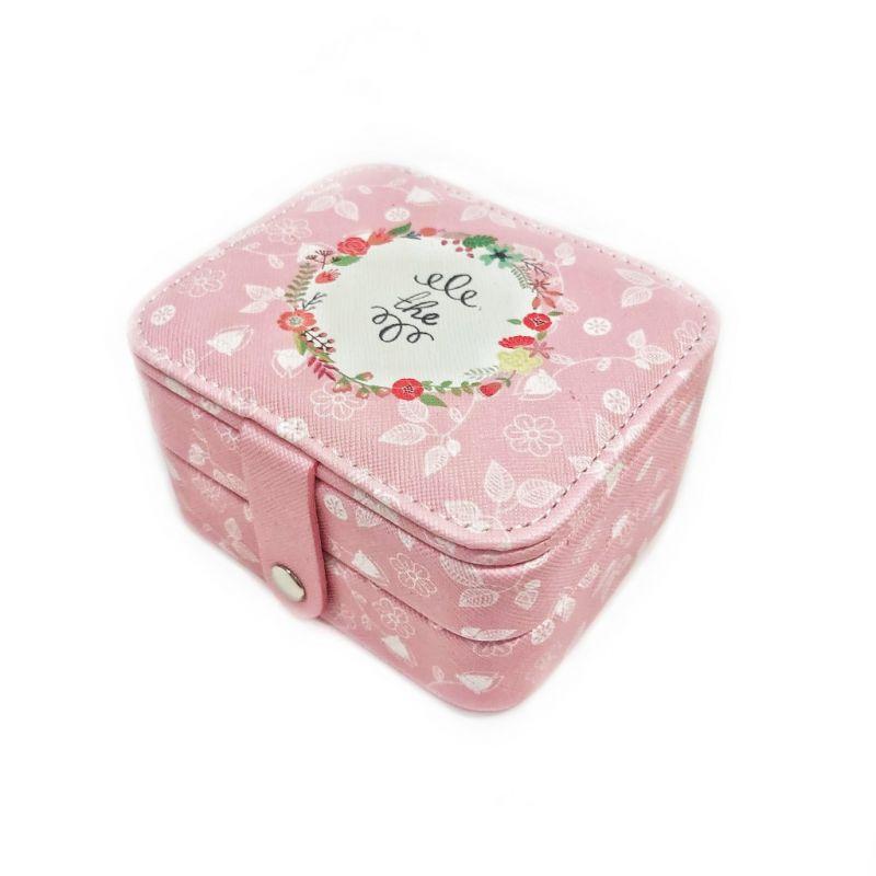 Мини шкатулка для ювелирных изделий The 11х9х6 см (цвет розовый)