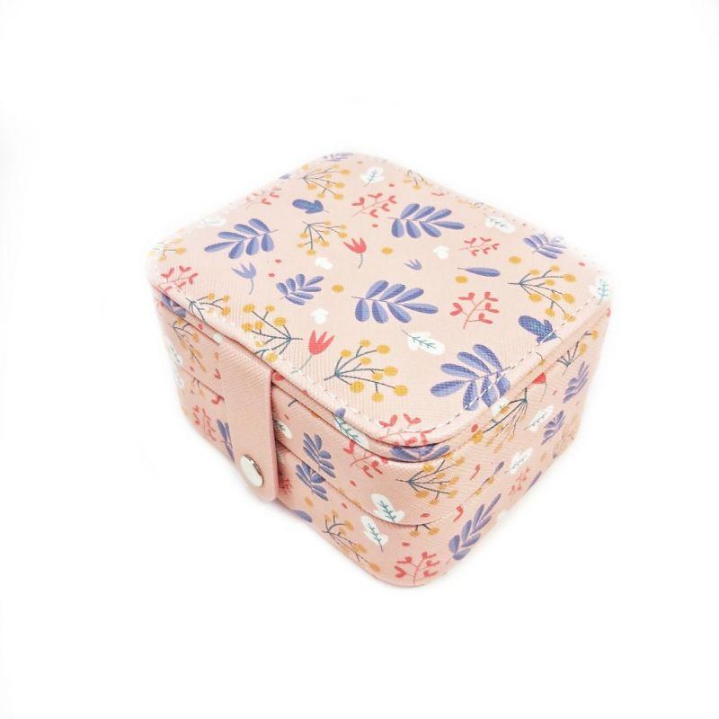 Мини шкатулка для ювелирных изделий Полевые цветы 11х9х6 см (цвет розовый)