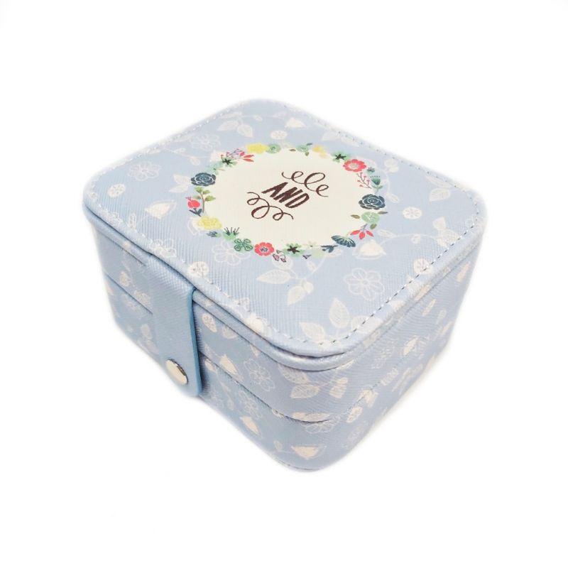 Мини шкатулка для ювелирных изделий And 11х9х6 см (цвет голубой)