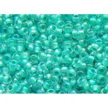 Бисер чешский 58558 прозрачный радужный бирюзовая линия внутри Preciosa 1 сорт
