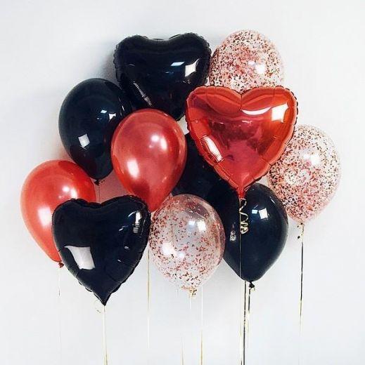 Набор гелиевых фольгированных шаров Любовные томления