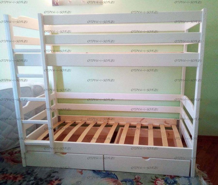 Кровать двухъярусная Танюша Модуль с ящиками