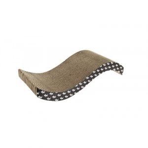 Картонная когтеточка Ferribiella Tiragraffi Cartone Scivolo Волна для кошек 54х22х11.5см