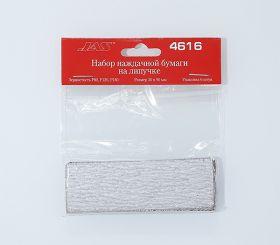 Набор наждачной бумаги на липучке, P80, P120, P180, 30x90 мм, 6 шт.