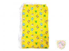 Бортики детские в кроватку цельные (желтый со зверюшками) Мамин Малыш OPTMM.RU