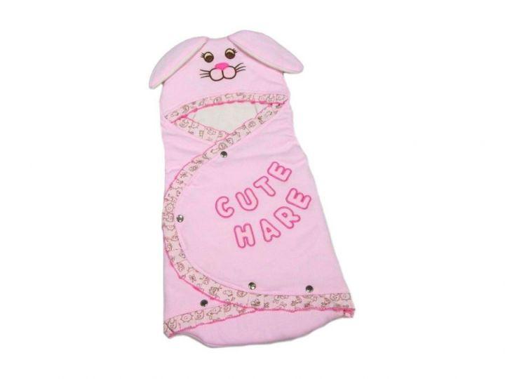 Одеяло-конверт для новорожденных с ушками NV2-OD090(k)-ITpk (розовый)