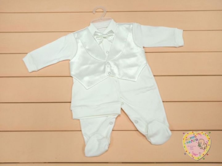 Костюм для новорожденного: шапка, комбинезон-жилет dFC-KS205-ITpk(b)