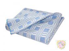 Одеяло детское байковое 140х110 (синий)