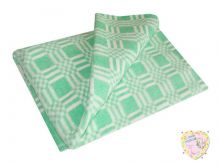 Одеяло детское байковое 112х90 (зеленый)