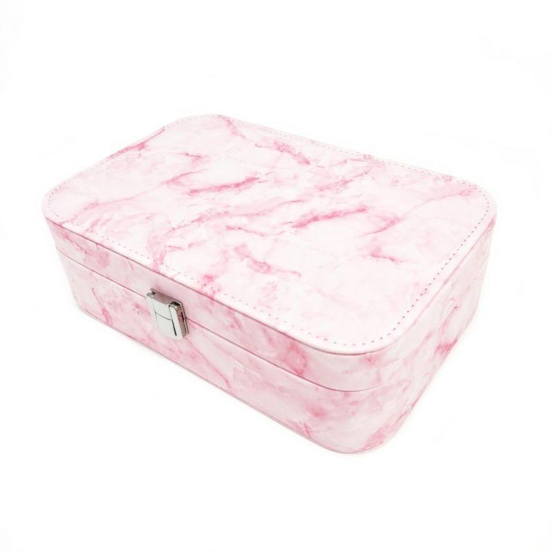 Шкатулка для украшений Мрамор 22х15х7 см (цвет розовый)