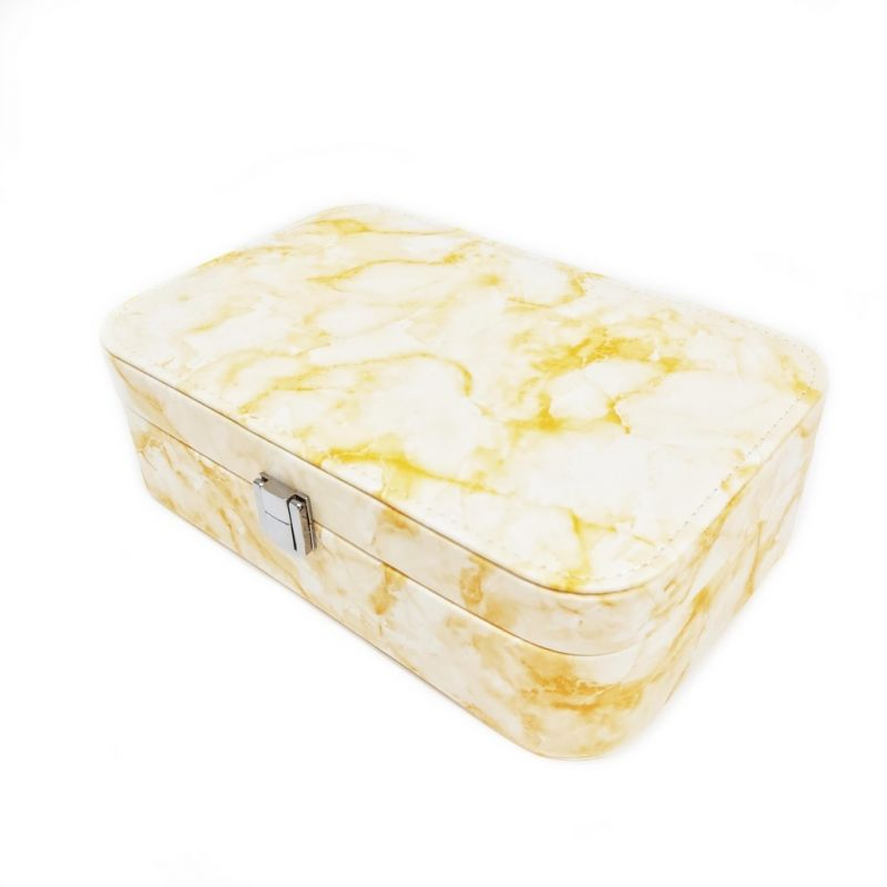 Шкатулка для украшений Мрамор 22х15х7 см (цвет жёлтый)