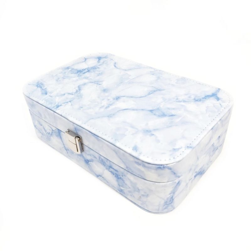 Шкатулка для украшений Мрамор 22х15х7 см (цвет голубой)