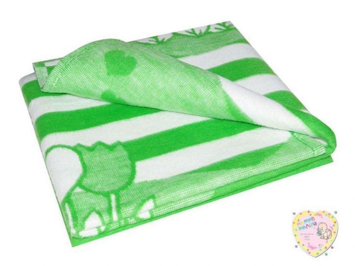Одеяло детское байковое 140х100 (зеленый)