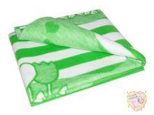 Одеяло байковое 140х100 (зеленый цветочный) Мамин Малыш OPTMM.RU