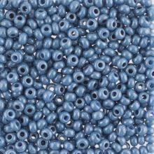 Бисер чешский 33023 непрозрачный серо-голубой блестящий Preciosa 1 сорт