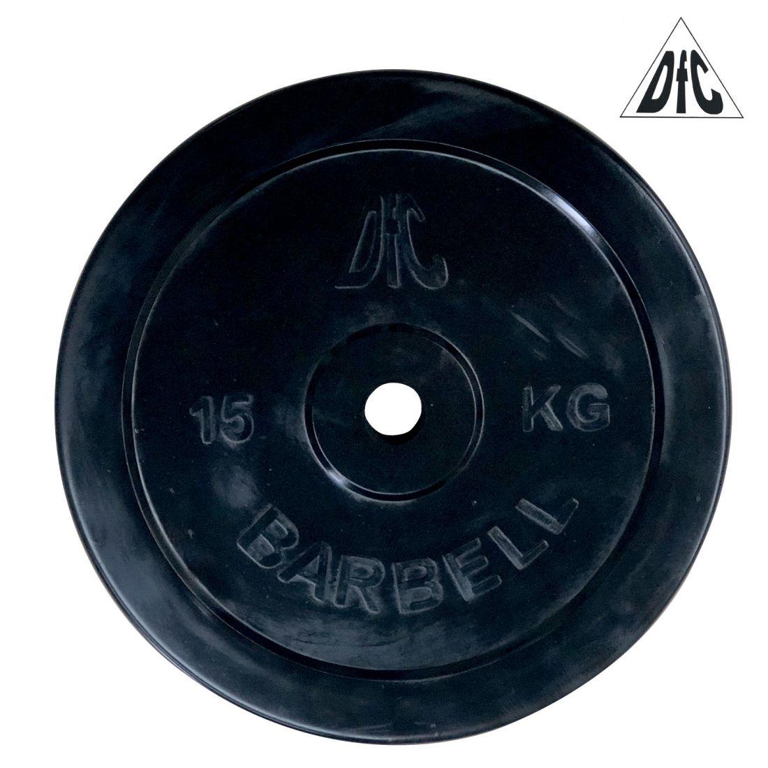Диск обрезиненный DFC, чёрный, 26 мм, 15кг