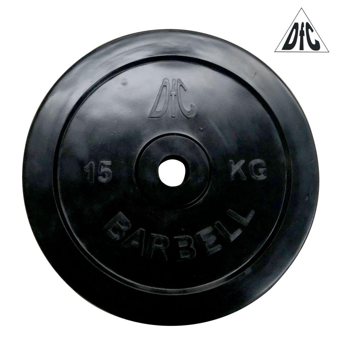 Диск обрезиненный DFC, чёрный, 31 мм, 15 кг