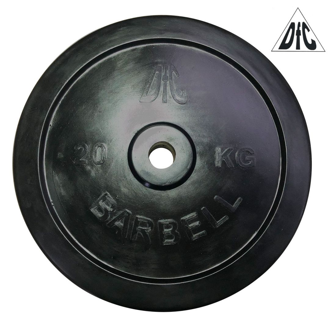 Диск обрезиненный DFC, чёрный, 31 мм, 20 кг