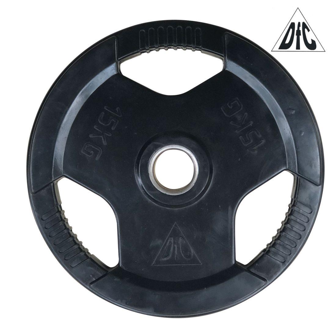 Диск обрезиненный DFC, чёрный, 51 мм, 15 кг