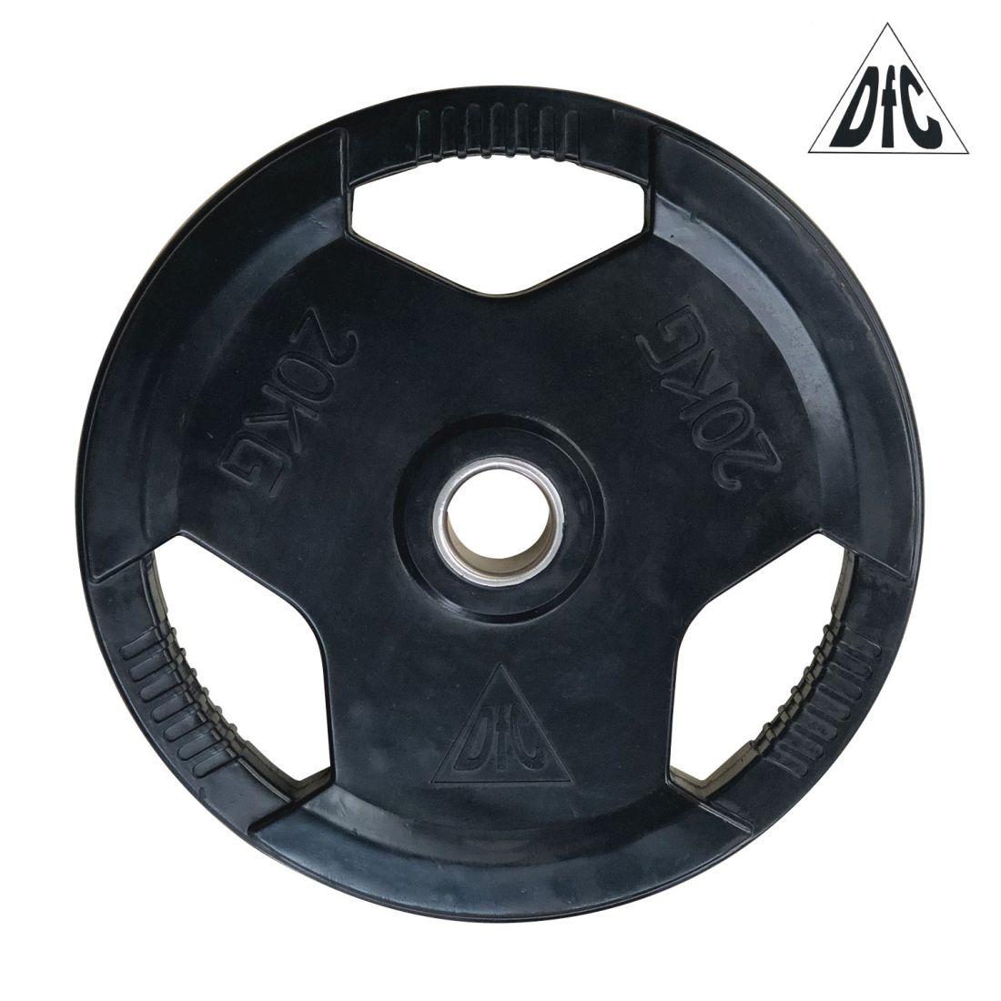 Диск обрезиненный DFC, чёрный, 51 мм, 20 кг