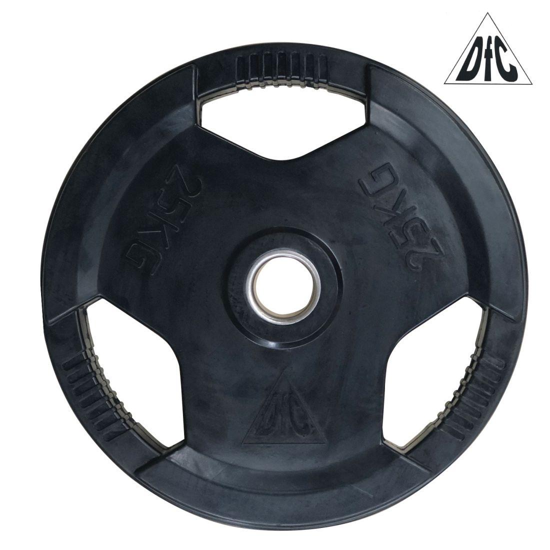 Диск обрезиненный DFC, чёрный, 51 мм, 25 кг