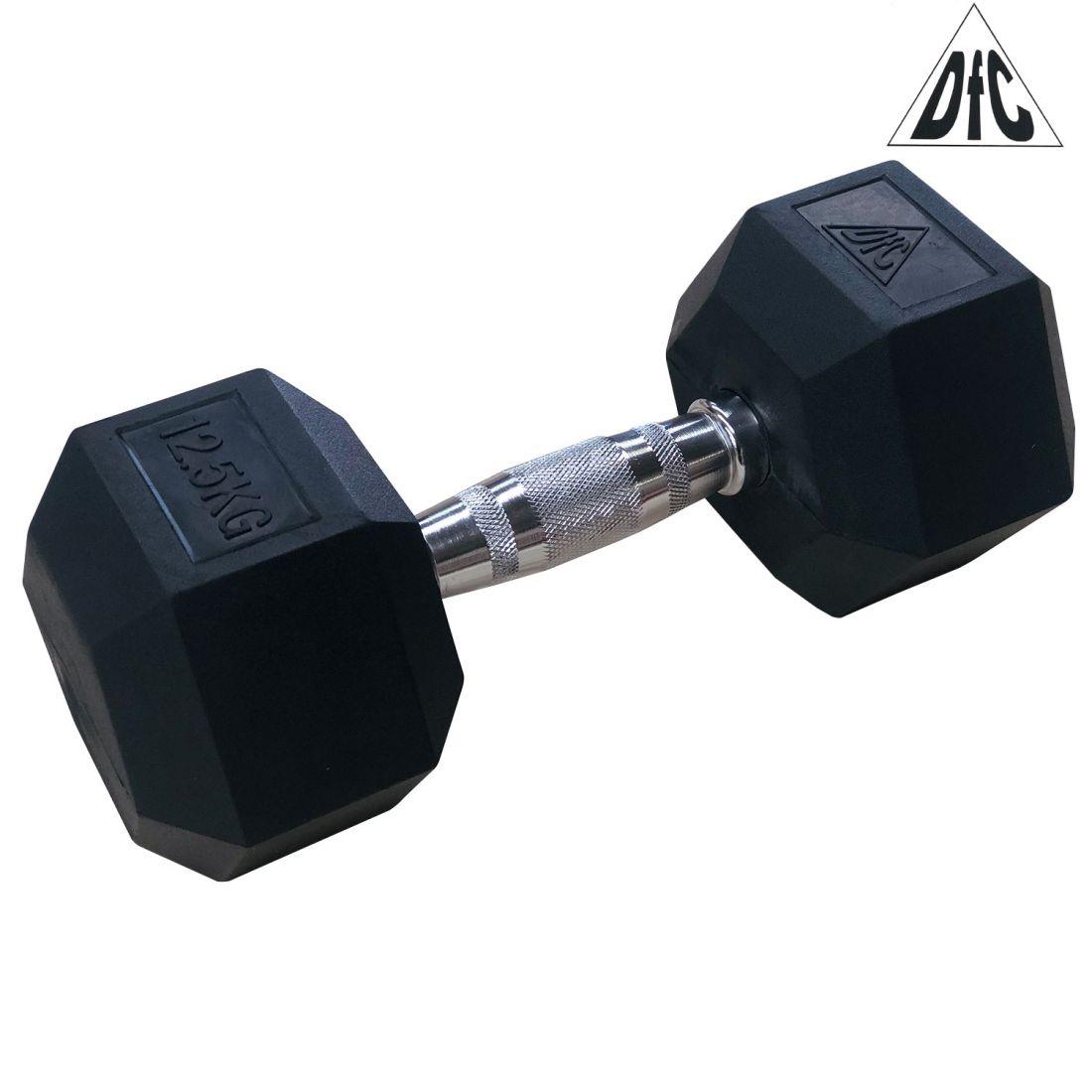 Гантели DFC гексаг. обрезиненная пара 12.5 кг DB001-12.5