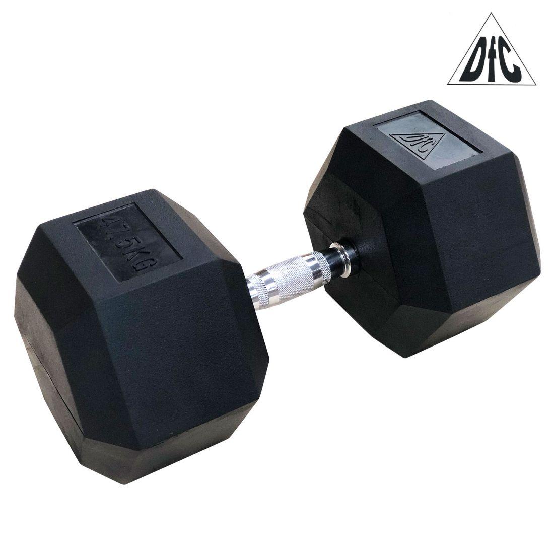Гантели DFC гексаг. обрезиненная пара 47.5 кг DB001-47.5