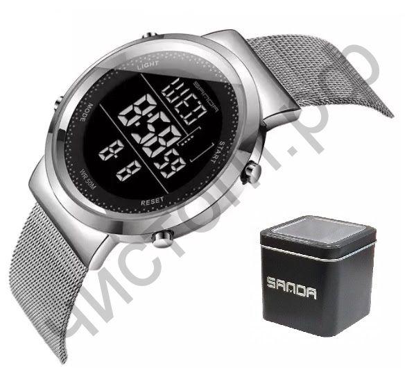 Часы наручные SANDA 383G подсветка ,таймер , будильник Высокое качество Водонепроницаемые !