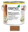 Прозрачная краска на основе цветных масел и воска для внутренних работ Osmo Dekorwachs Transparent Granitgrau 3166 Орех 2,5л