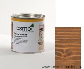 Прозрачная краска на основе масел и воска для внутренних работ Osmo Dekorwachs Transparent Granitgrau  3166 Орех 0,125 л