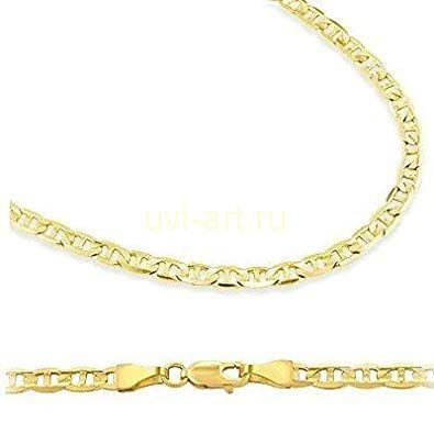 Позолоченная цепочка или браслет плетения маринер, 4 мм (арт. 250165)