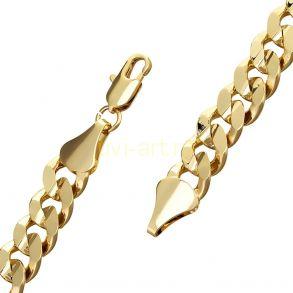 Позолоченная цепочка или браслет, 9 мм (арт. 250166)