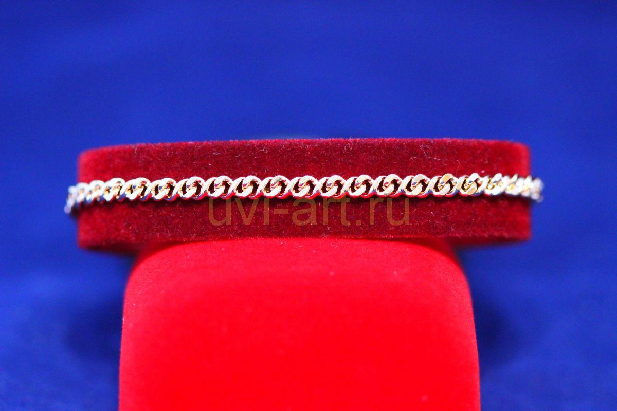 Позолоченная цепочка или браслет, изящное плетение, 4 мм (арт. 250168)