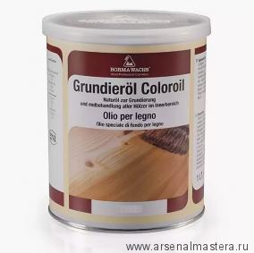 Масляное покрытие для полов и  паркета Borma Grundierol 1л белый дуб R3910-1