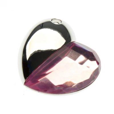 16GB USB-флэш корпус для накопитель Apexto UU-50 сердце стеклянное розовое