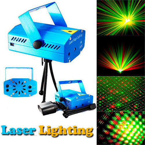 Лазерный мини-проектор MINI LASER STARGE LIGHTING