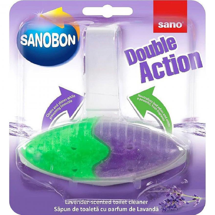 Подвеска для унитаза двойного действия Лаванда Sanobon Double Action Lavender Sano 55 г