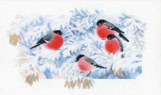 Набор для вышивания крестом Морозное утро №1388 фирма Риолис