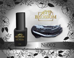 02 BLOSSOM гель лак черный 12мл.
