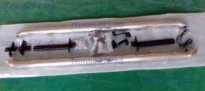 Защита штатных порогов, с LED подсветкой, сталь