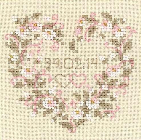Набор для вышивания бисером От всего сердца №1405 фирма Риолис
