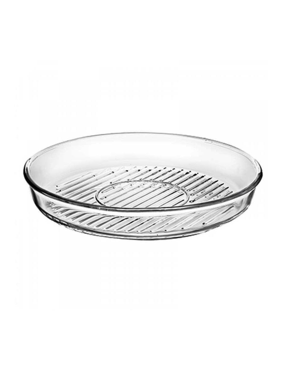 Круглая форма гриль 2,95 литра Borcam 59544 Grill жаропрочная стеклянная форма для СВЧ 32x5 см