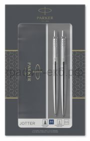 Набор Parker Jotter Ручка шариковая + Карандаш Stainless Steel CT Core 2093256